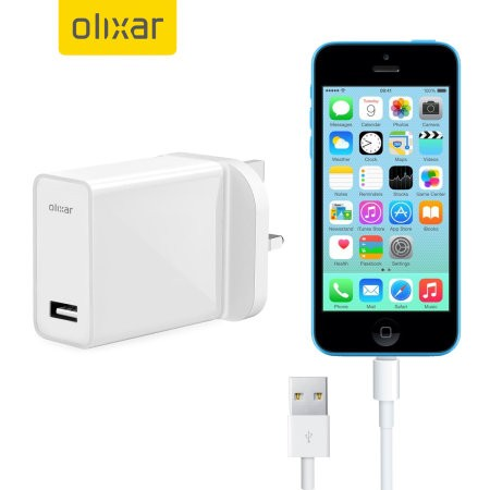 High Power iPhone 5C Wall Charger & 1m Cable